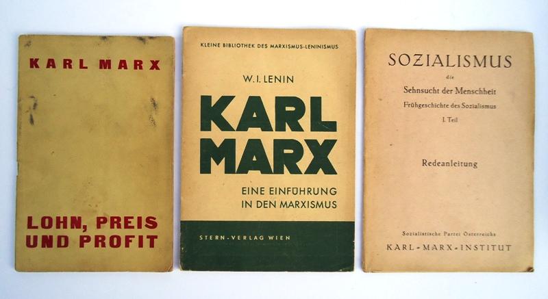 Konvolut aus 3 Bänden.