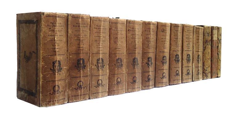 Allgemeine deutsche Real-Encyclopädie für die gebildeten Stände. (Conversations-Lexicon). In 10 Bänden + 3 Ergänzungsbände. Komplett. 5. Auflage.