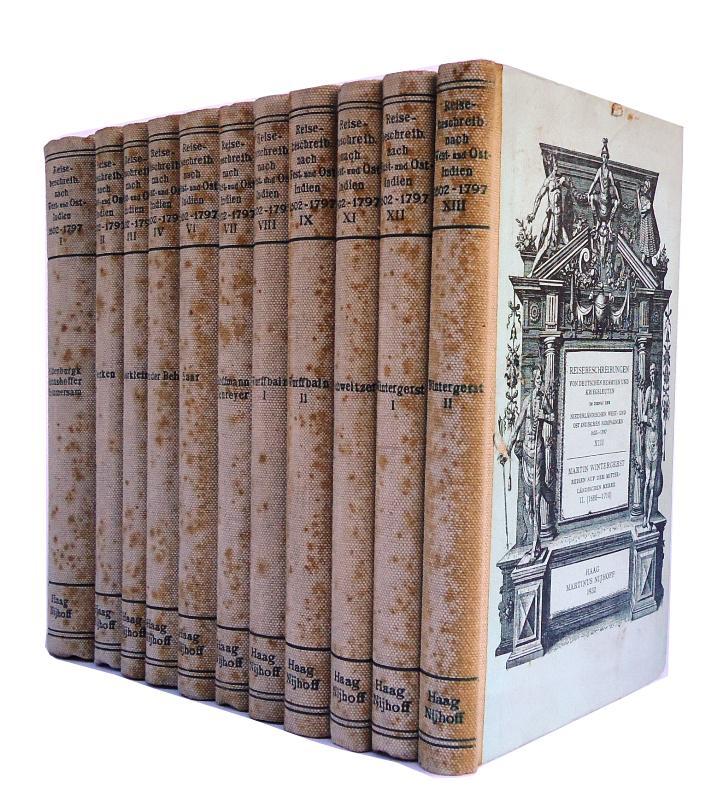 Reisebeschreibungen von deutschen Beamten und Kriegsleuten im Dienst der Niederländischen west- und ost- indischen Kompanien 1602-1797. 11 (von 13) Bänden.