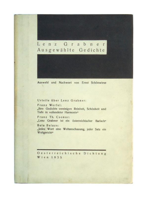 Signiertes und numeriertes Exemplar - Ausgewählte Gedichte.