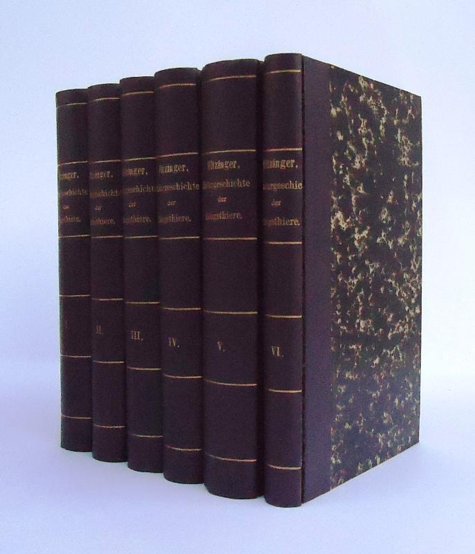 Wissenschaftlich-populäre Naturgeschichte der Säugethiere in ihren sämmtlichen Hauptformen. Komplett in 6 Bänden. Ohne Atlasband.