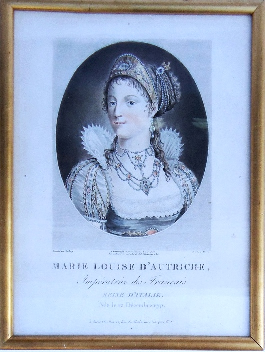 Marie Louise d´Autriche, Imperatrice des Francais. Dessiné par Vexberg. Gravé par Morret. Farbstich.