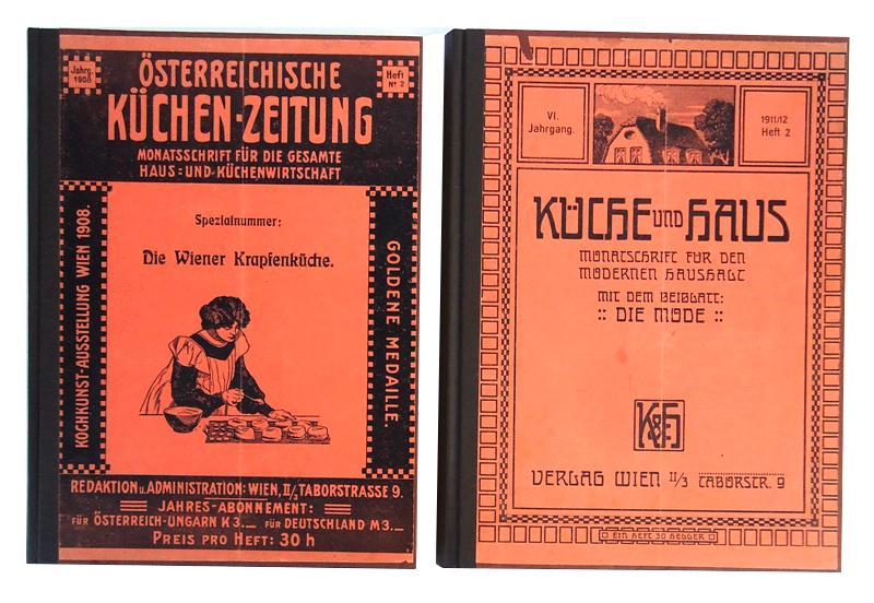 58 Hefte KÜCHE UND HAUS. Monatsschrift für den modernen Haushalt. Mit dem Beiblatt Mode. 1908-1914.
