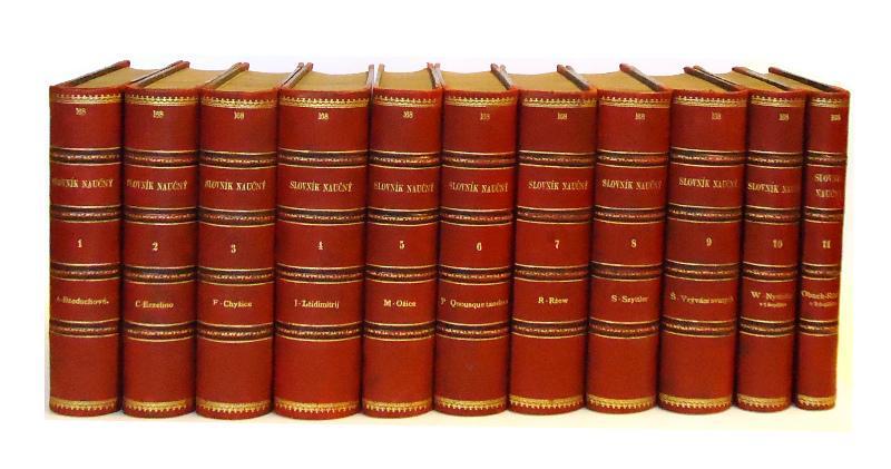 SLOVNIK NAUCNY. Dil 1-11. (Komplett in 11 Bänden).
