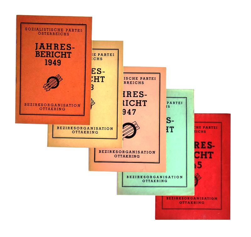 Jahresberichte 1945-1949. 5 Bände.