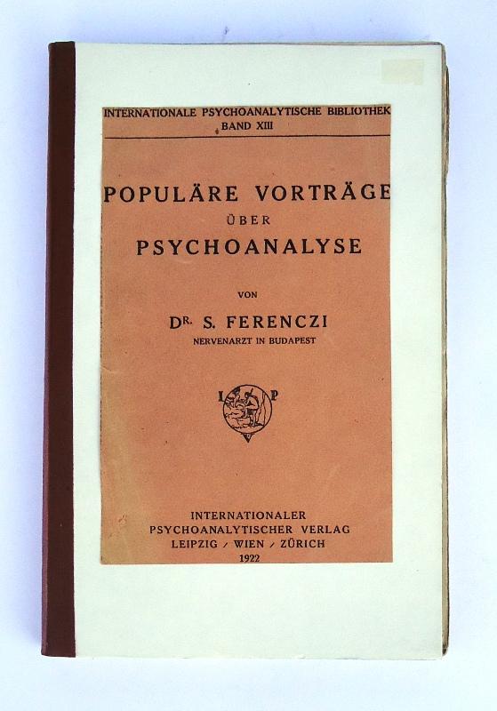 Populäre Vorträge über Psychoanalyse.