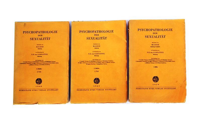 Psychopathologie der Sexualität. Komplett in 2 Bänden (gebunden in 3).