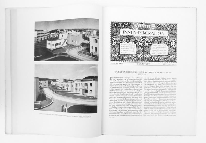 Innen-Dekoration. Reich-illustrierte kunstgewerbliche Zeitschrift für den gesamten inneren Ausbau. XLIII. Jahrgang 1932, Heft 8.