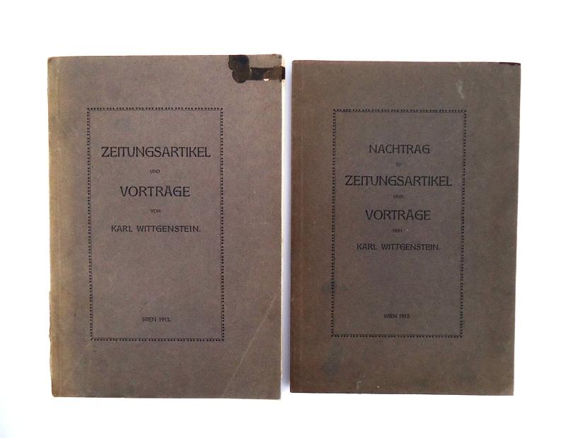 Zeitungsartikel und Vorträge + Nachtrag. Komplett in 2 Bänden.
