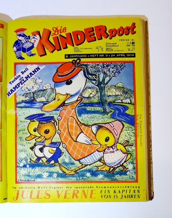 Die Kinderpost. Kompletter 9. Jahrgang 1954. Heft 1-26. Gebunden in 1 Band.