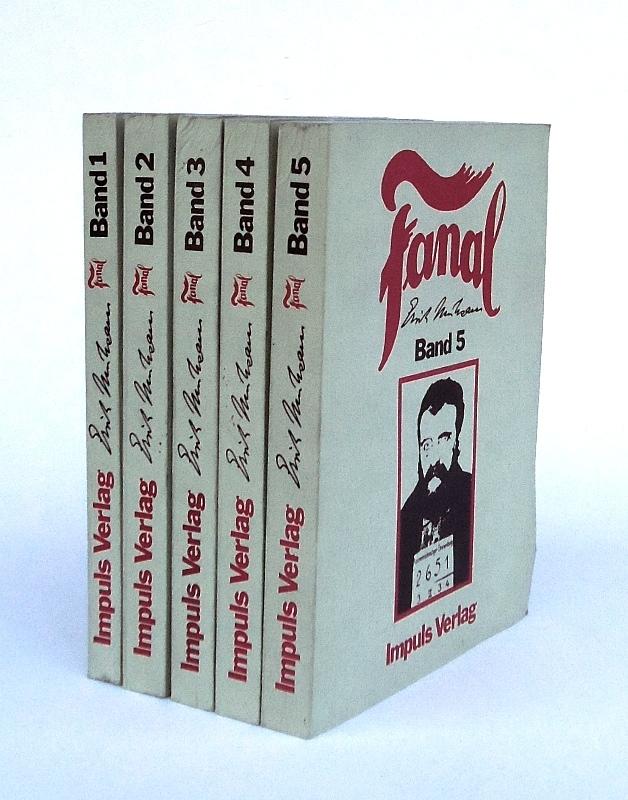 Fanal. Anarchistische Monatsschrift. Komplett in 5 Bänden. Reprint.