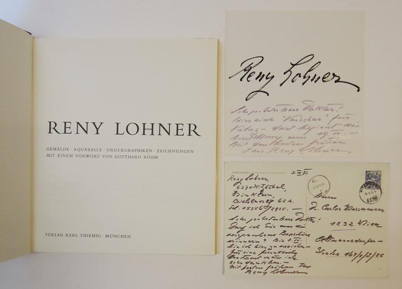 Reny Lohner. Gemälde - Aquarelle - Druckgraphiken - Zeichnungen.
