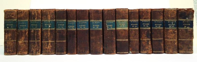 Goethe's Werke. Vollständige Ausgabe letzter Hand. 28 Bände (von 40) der noch zu Lebzeiten Goethes erschienenen Werkausgabe.