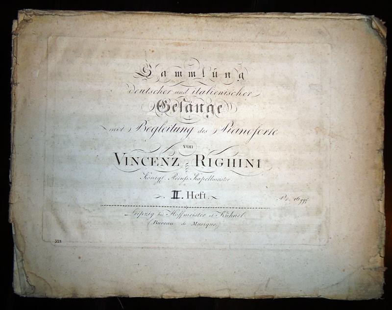 Sammlung deutscher und italienischer Gesänge mit Begleitung des Pianoforte. II. Heft.