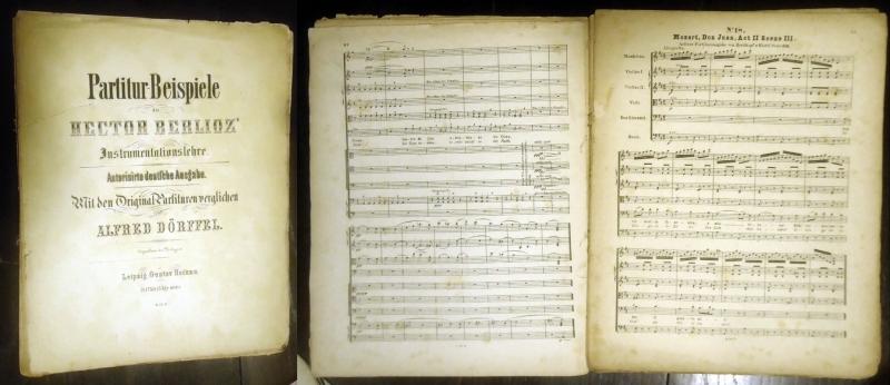 Partitur-Beispiele zu Hector Berlioz´ Instrumentationslehre. Autorisierte deutsche Ausgabe. Mit den Original-Partituren verglichen von Alfred Dörffel.