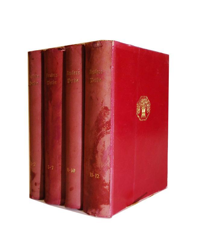 Ganzlederausgabe - Reuters Werke in zwölf Teilen. Komplett in 4 Büchern.