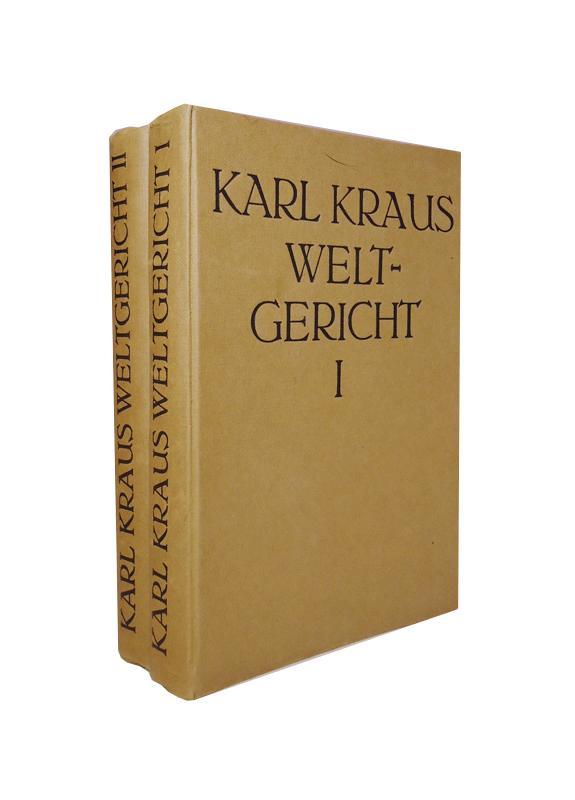Weltgericht. 2 Bände. Komplett.