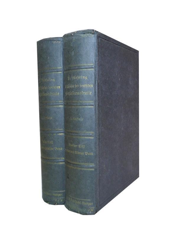Geschichte der Deutschen Sozialdemokratie. 4 Bände (in 2 Bänden gebunden). Komplett. 5. Auflage.