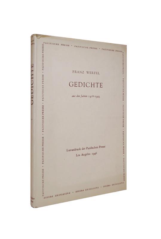 Gedichte aus den Jahren 1918-1945. Luxusdruck.